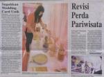 pameran domino yang diulas di Harian Fajar (Makassar)
